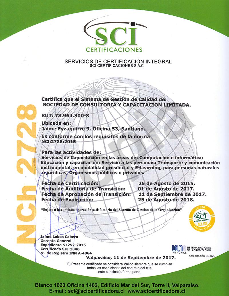 Certificación DGM